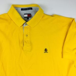 Vintage Tommy Hilfiger Solid Yellow Polo Men's XL